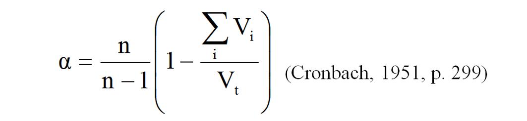 Cronbach's Alpha?